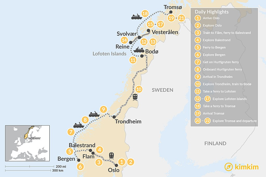 Map of The Best of Norway - 3 weeks