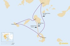 Map thumbnail of How to Get from Santorini to Ios