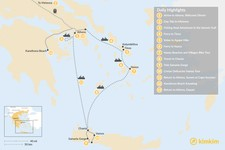 Map thumbnail of Active Athens, Mainland Greece, Cyclades, and Crete - 13 Days