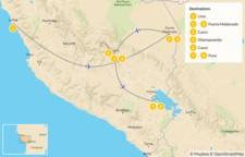 Map thumbnail of Peru Highlights & Jungle Adventure - 9 Days