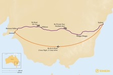 Map thumbnail of How to Get from Sydney to the Barossa Valley