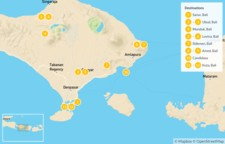 Map thumbnail of Family Trip to Bali: Ubud, Amed, Kuta & More - 13 Days