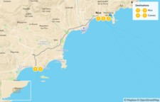 Map thumbnail of Cities & Nature in the French Riviera: Nice, Cannes, Monaco, St. Tropez, & More - 6 Days