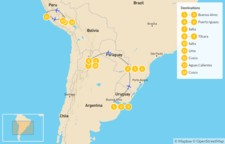 Map thumbnail of Andean Adventure: Buenos Aires, Iguazú Falls, Machu Picchu, & More - 15 Days