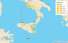 Map thumbnail of Naples, Amalfi Coast, & Sicily - 11 Days