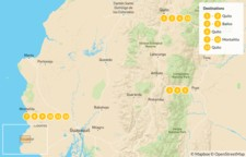 Map thumbnail of Explore the Andes and Pacific Coast in Ecuador - 14 Days