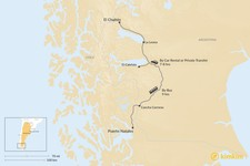Map thumbnail of How to Get from Puerto Natales to El Chalten