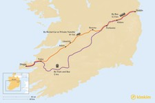 Map thumbnail of How to Get from Dublin to the Dingle Peninsula