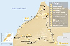 Map thumbnail of Morocco Grand Tour: Casablanca to the Atlantic Coast - 14 Days