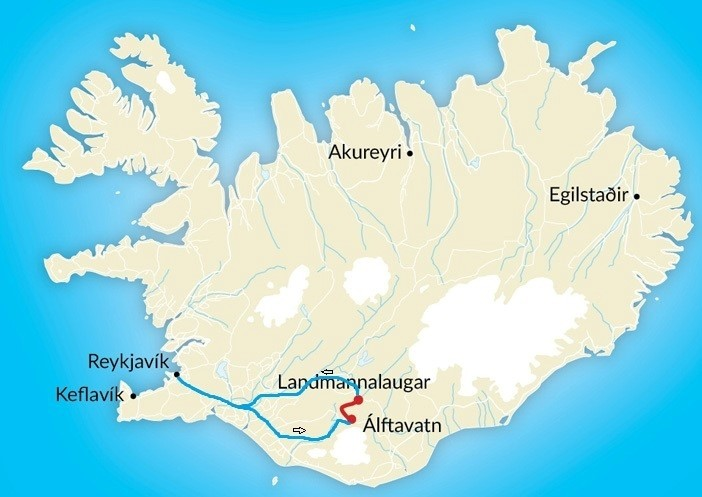 Map of Volcanic Trails: The Backroad to Landmannalaugar - 3 Days