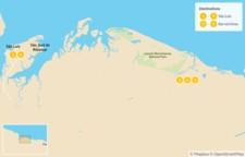 Map thumbnail of Explore Brazil: São Luís to Lençóis Maranhenses - 6 Days