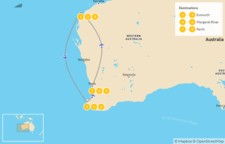 Map thumbnail of Best of Western Australia: Exmouth, Margaret River, & Perth - 10 Days
