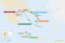 Map thumbnail of 8 Days in Greece - 5 Unique Itineraries