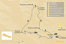 Map thumbnail of Ghandruk Trek - 7 Days