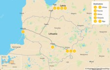 Map thumbnail of Jewish Heritage in Lithuania & Latvia - 10 Days