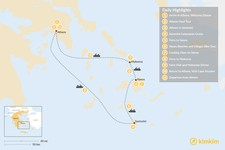 Map thumbnail of Relaxed Athens, Santorini, Naxos & Mykonos - 11 Days