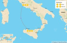 Map thumbnail of Rome & Sicily Highlights - 7 Days