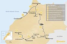 Map thumbnail of A Taste of Morocco: Casablanca to Marrakech - 8 days