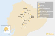 Map thumbnail of Voyage Across Ecuador: Highlands and Jungle Lodge Tour - 10 Days