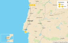 Map thumbnail of Food Tour of Portugal - 5 Days