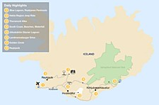 Map thumbnail of Southern Iceland: Explore Volcanoes, Lagoons, Glaciers and Hiking Trails - 8 day Itinerary