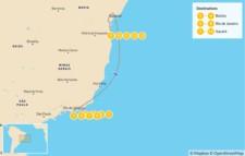 Map thumbnail of Beach Honeymoon in Brazil: Búzios, Rio de Janeiro & Itacaré - 14 Days