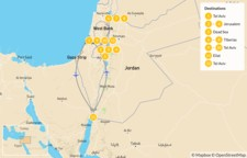 Map thumbnail of Family Adventure in Israel - 12 Days