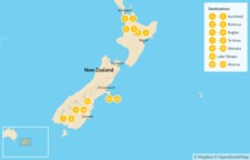 Map thumbnail of New Zealand: North to South - 14 Days