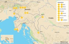 Map thumbnail of Self-Drive Highlights of Slovenia & Istria - 14 Days