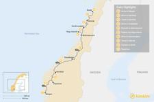Map thumbnail of Summer Road Trip: Helgelands Coastal Tour - 10 Days