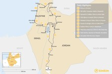 Map thumbnail of Holy Land Off the Beaten Path: Israel & Jordan - 10 Days