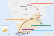 Map thumbnail of 11 Days in South Africa - 5 Unique Itinerary Ideas