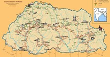 Map thumbnail of Culture & Trails of Western & Central Bhutan - 14 Days