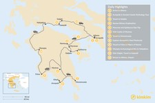 Map thumbnail of Mainland Greece Road Trip - 12 Days