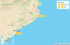 Map thumbnail of Barcelona & the Costa Brava - 7 Days