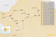 Map thumbnail of The Golden Triangle & Rajasthan - 14 Days