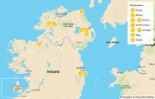 Map thumbnail of Exploring Dublin and the Northern Coastline - 10 Days