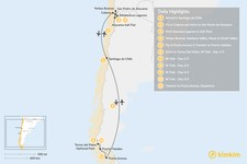 Map thumbnail of Atacama Desert & W Trek Excursion - 11 Days