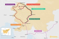 Map thumbnail of 5 Days in Slovenia - 6 Unique Itinerary Ideas
