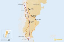 Map thumbnail of How to Get from Puerto Varas to Punta Arenas