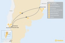 Map thumbnail of Family Adventure in Patagonia: Buenos Aires & Bariloche - 8 Days