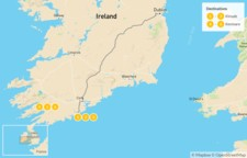 Map thumbnail of Southwest Ireland Family Adventure - 7 Days