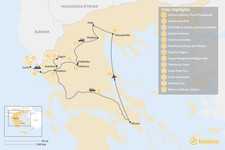 Map thumbnail of Enchanting Northern Greece and Corfu - 13 Days