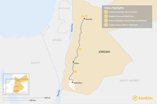 Map thumbnail of Jordan: Amman, Petra and Wadi Rum - 4 Days