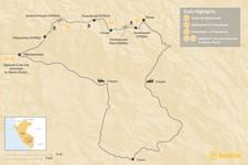 Map thumbnail of Lima, Cusco & Lares Trek to Machu Picchu - 6 Days