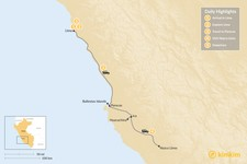 Map thumbnail of From Lima to Nazca: Wildlife, History & Gastronomy - 5 Days