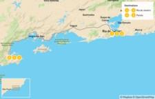 Map thumbnail of Discover Brazil: Rio de Janeiro & Paraty - 7 Days