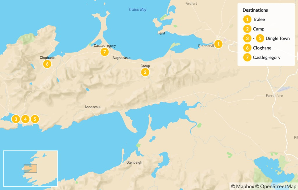 Map of Dingle Peninsula Assisted Hike - 8 Days
