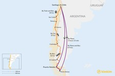 Map thumbnail of How to Get from Santiago to Puerto Natales