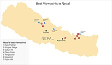 Map thumbnail of Nepal's Top 6 Viewpoints: Where to See Everest and Other Himalayan Giants